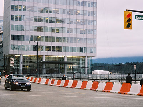 Pedestrian Walkway barrier RoadRunner Premier Plastics