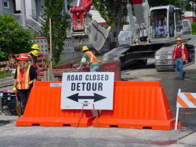 Plastic barricades for detour construction site Premier Plastics
