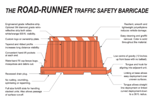 RoadRunner Traffic Safety Barricade Drawing